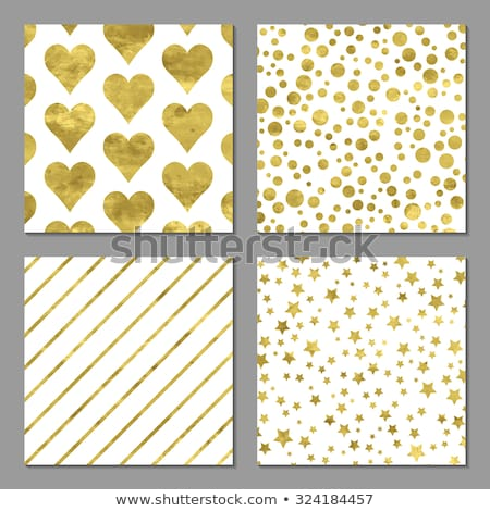 elegant golden background with hearts and stars stock photo © artida