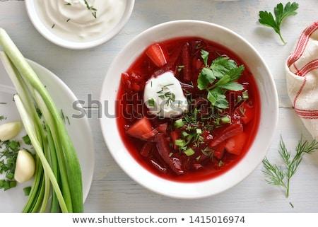 Zuppa tradizionale russo rosso Europa orientale Foto d'archivio © Laks