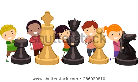 Cartoon Chess Pawn Hug Stock photo © cthoman