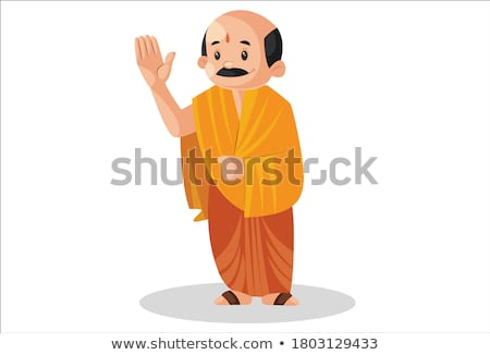 Cartoon Priest Waving Stock photo © cthoman