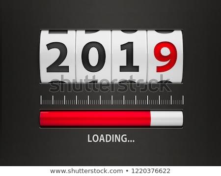 Nieuwjaar counter ontwerp bestanddeel bellen tonen Stockfoto © Oakozhan