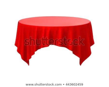 красный чистой таблице ресторан скатерть изолированный Сток-фото © MarySan