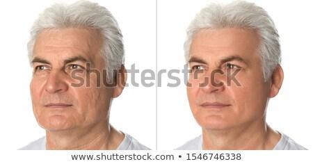 Gezicht cosmetische procedure portret glimlachend grijs Stockfoto © AndreyPopov