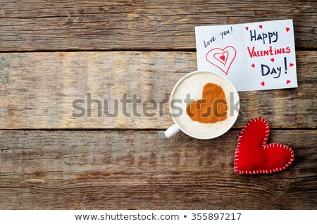 Café da manhã dia dos namorados copo café fresco Foto stock © Illia