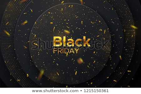 Paper Circle Golden Confetti Stock photo © limbi007