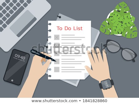 Notebook pen vector business school dagelijks Stockfoto © pikepicture