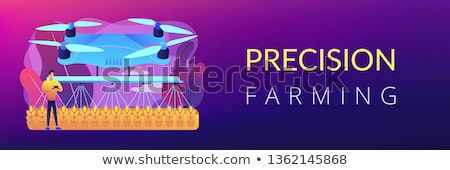 Agriculture drone use concept banner header. Stock photo © RAStudio
