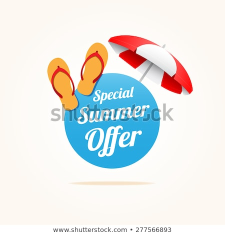 Best Summer Offer Discount Vector Illustration Stock photo © robuart