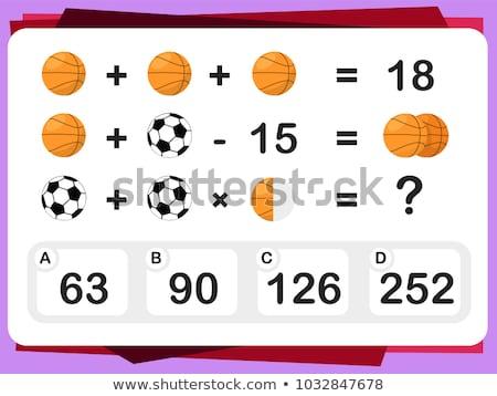 C is for educational game for children Stock photo © izakowski