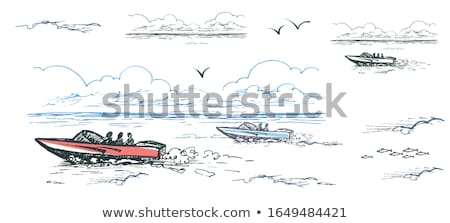 Water Transportation and Fun of People Vector Stock photo © robuart