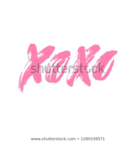 Xoxo. Hand drawn lettering. Happy Valentine's Day. Hugs and kisses. Love. Ink letters. Textured word Stock photo © user_10144511