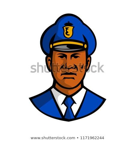 African American Policeman Mascot Stock photo © patrimonio