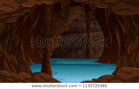 Karanlık yeraltı mağara nehir sahne örnek Stok fotoğraf © colematt