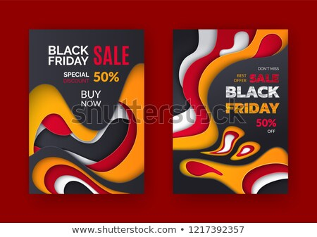 Stock photo: Black Friday Offer, 50 Percent Price Off Leaflet