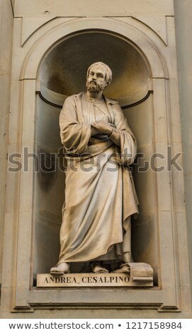 Photo stock: Botanist Andrea Cesalpino Monument In Florence Italy