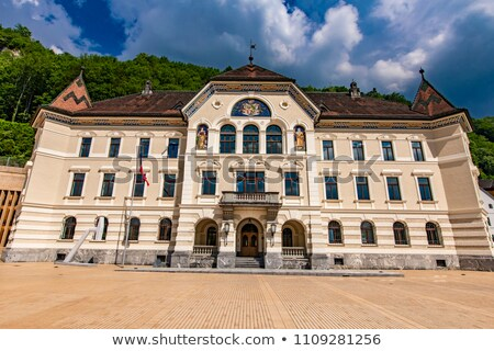 Liechtenstein National Archives building in Vaduz Stock photo © boggy