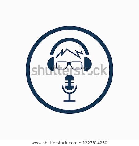 Color vintage karaoke emblem Stock photo © netkov1