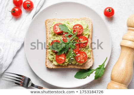 prosciutto · mozzarella · basilicum · tomaten · vers - stockfoto © agfoto