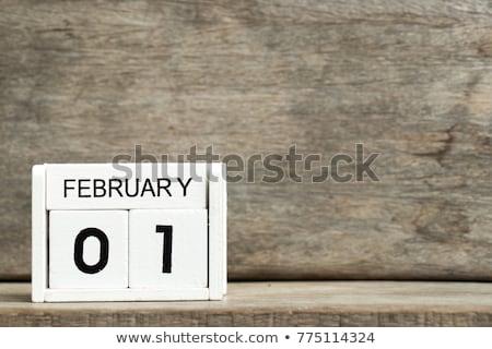 Cubes calendar 1st February Stock photo © Oakozhan