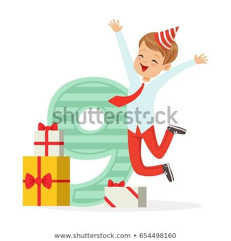 Gelukkige verjaardag kaart illustratie partij gelukkig Stockfoto © colematt