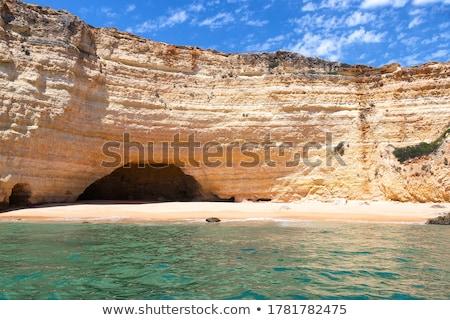 Ocean wewnątrz morza jaskini Świt fale Zdjęcia stock © lovleah