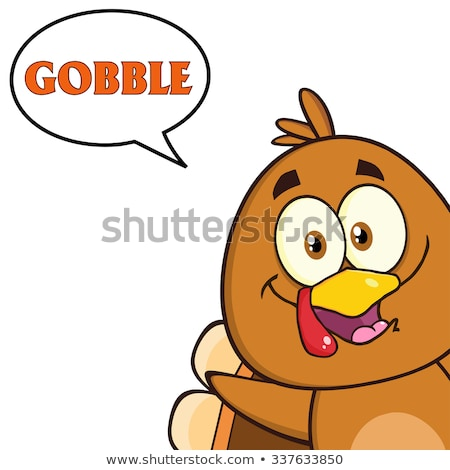 Sorridente Turquia pássaro olhando canto Foto stock © hittoon