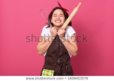 Excited chef cook wearing uniform standing Stock photo © deandrobot