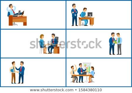 work task and order of boss job interview candidate stock photo © robuart
