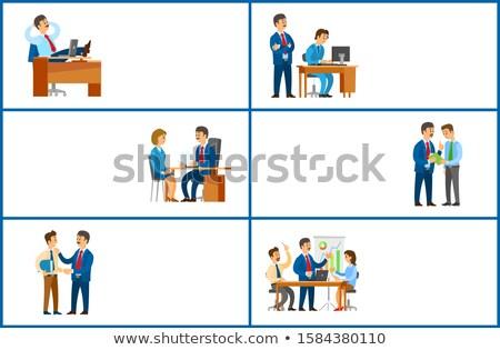 incontro · di · lavoro · lavoro · freno · compito · lavoratore - foto d'archivio © robuart