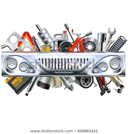 Vector Chrome Bumper with Car Spares Stock photo © dashadima