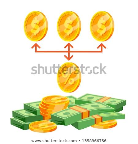 Vector business kopen percentage honorarium illustratie Stockfoto © pikepicture