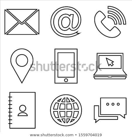 Landline Phone Minimalistic Icon in Line Style Stock photo © robuart