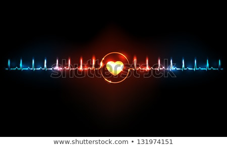medical background cardiograph heartbeat diagram Stock photo © SArts