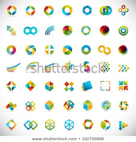 Stock photo: Yellow business icons design