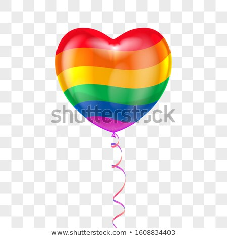 Realistic Colorful Balloons Amour Symbol Vector Stock photo © pikepicture