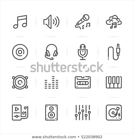 Music Signs, Settings and Sound Loudspeaker Set Stock photo © robuart