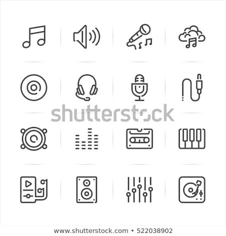 Musica segni suono altoparlante set Foto d'archivio © robuart