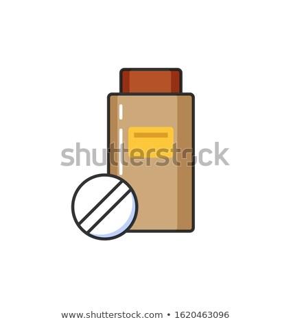 drugs · fles · vector · icon · pictogram · illustratie - stockfoto © robuart