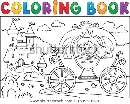 Princess in carriage theme image 2 Stock photo © clairev