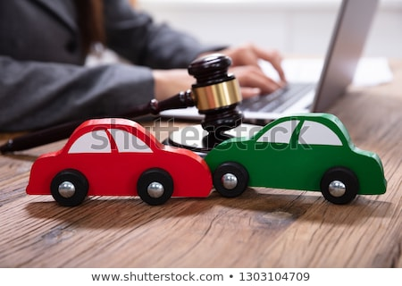 Small Red Car On Laptop Keypad Stock photo © AndreyPopov