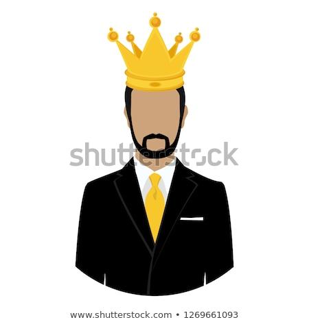 imprenditore · corona · isolato · bianco · ufficio · uomo - foto d'archivio © elnur