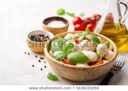 caprese · salatası · gıda · akşam · yemeği · domates · yemek · diyet - stok fotoğraf © karandaev