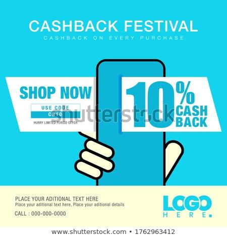Cash Maakt een reservekopie app interface sjabloon smartphone Stockfoto © RAStudio
