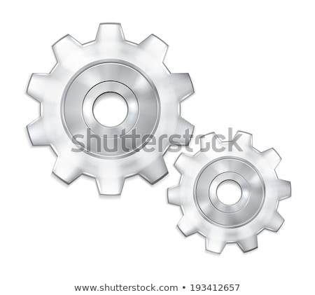 two metallic gears setting background Stock photo © SArts