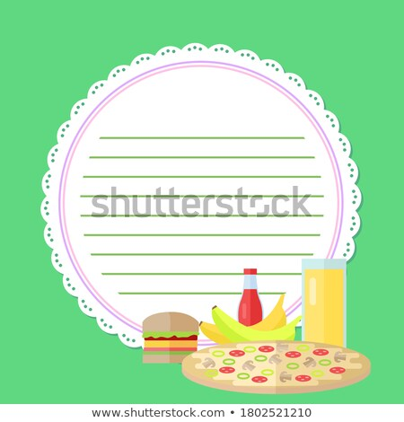 burger recipe on a notebook page Stock photo © netkov1