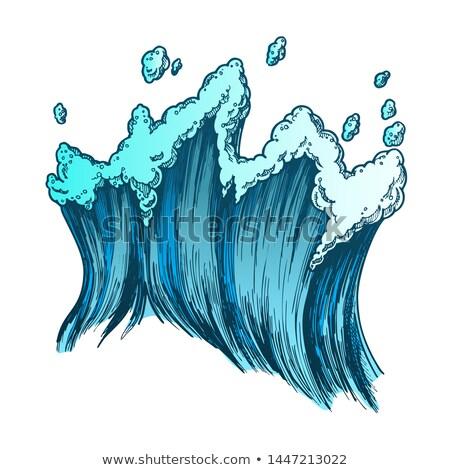 Szín trópusi tenger tengeri hullám csepp Stock fotó © pikepicture