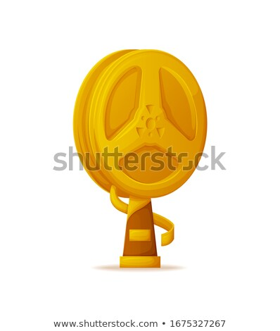 Trophy for Cinema Achievements, Gold Bobbin Icon Stock photo © robuart