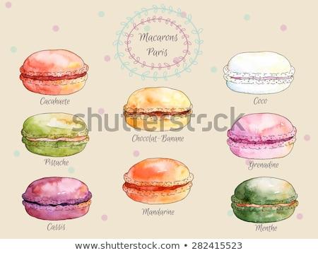 Color Assortment Baked Sweet Dessert Set Vintage Vector Stock photo © pikepicture