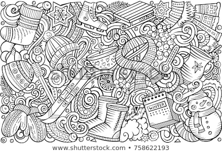 schiţă · felicitare · abstract · vector · proiect · copil - imagine de stoc © balabolka