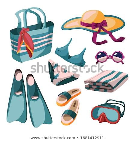 Zestaw pojedyncze obiekty dziewcząt plaży ilustracja wody Zdjęcia stock © bluering